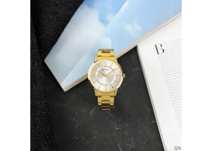 Мужские часы Curren 8385 Gold-White