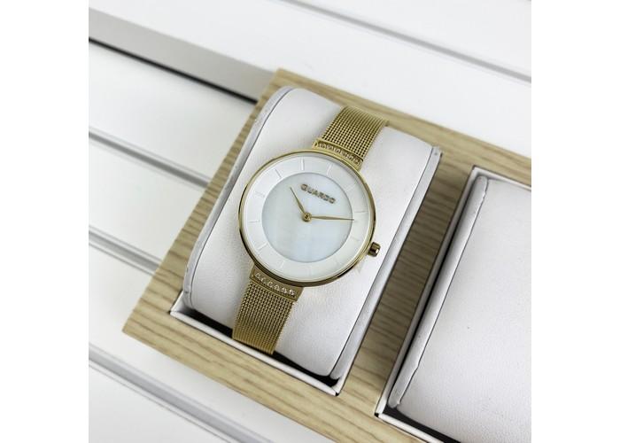 Женские часы Guardo 012439-4 Gold-White