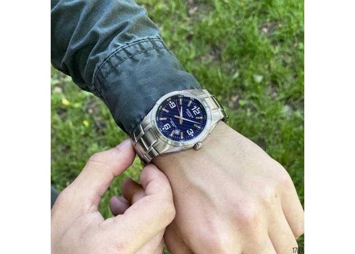 Мужские часы Casio EF-125D-2AVEG Silver-Blue