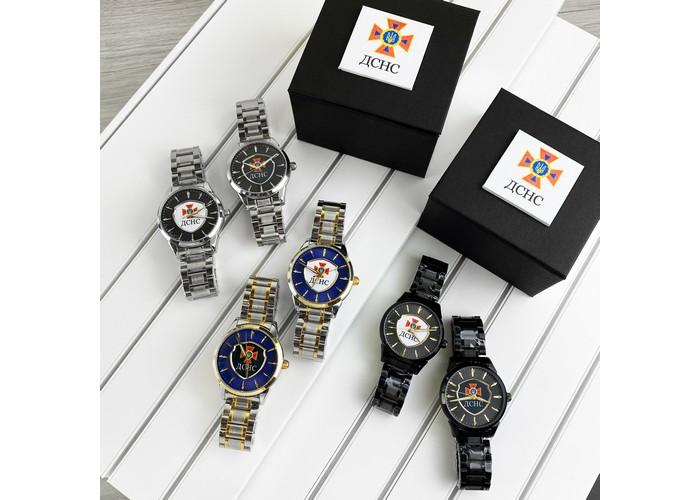 Мужские часы Chronte с логотипом ДСНС Black-Gold-White