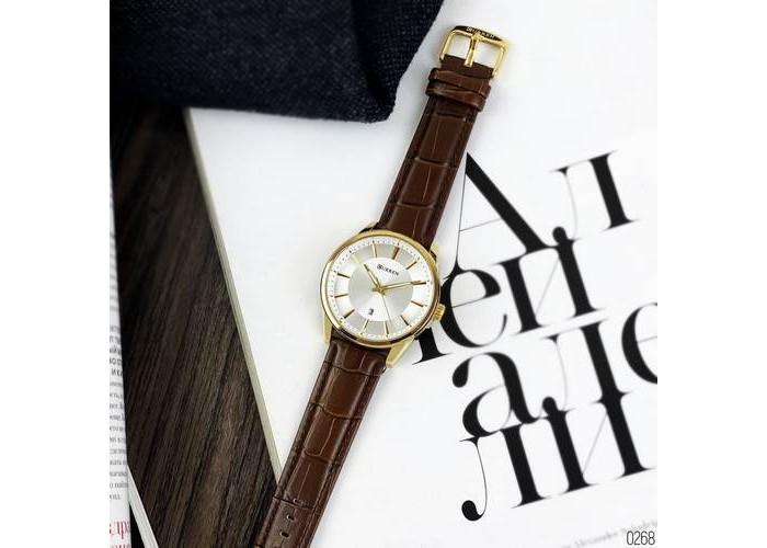 Мужские часы Curren 8365 Brown-Gold-White