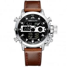 Мужские часы Megalith 8051M Brown-Silver-Black