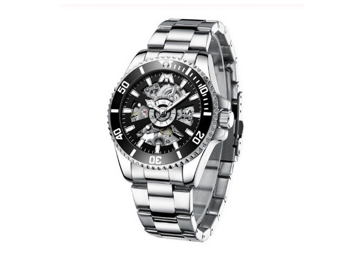 Мужские часы Chronte Robert Silver-Black