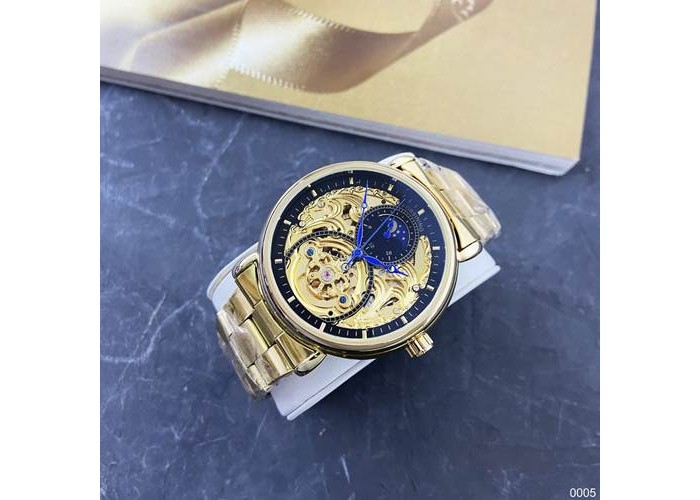 Мужские часы Forsining 8177 Gold-Black