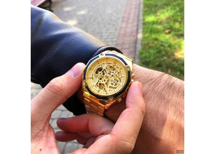 Мужские часы Forsining 8130 All Gold Automatic