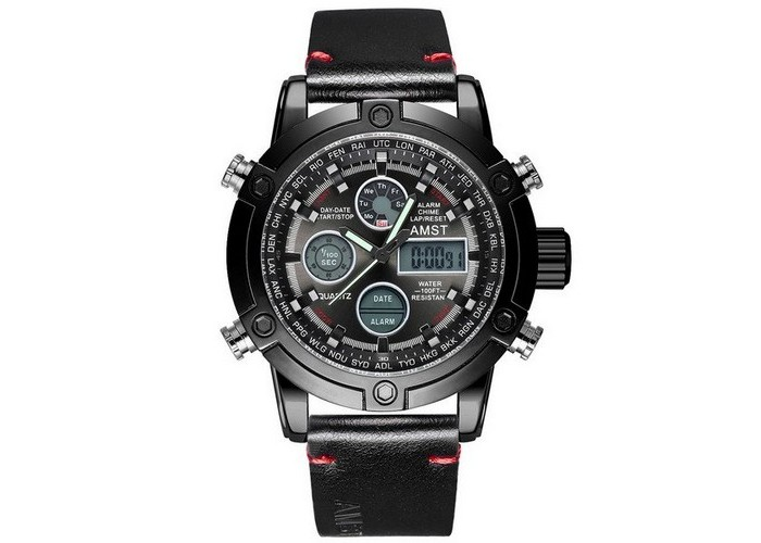 Мужские часы AMST 3022P All Black Smooth Wristband