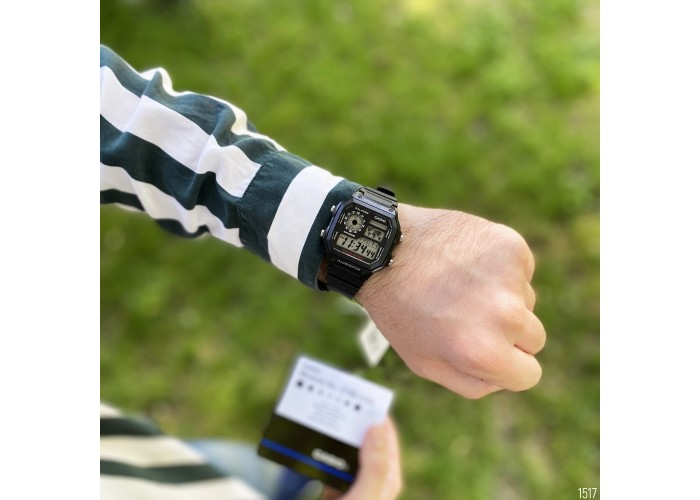 Мужские часы Casio AE-1200WH-1AVEF All Black