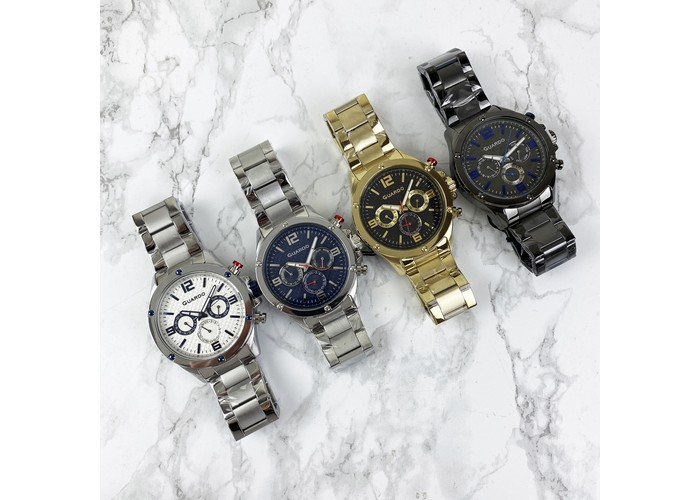 Мужские часы Guardo 11455-5 Black-Blue