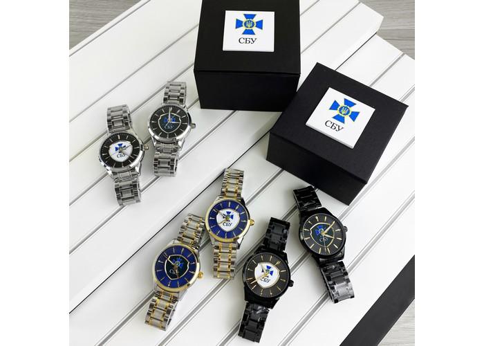 Мужские часы Chronte с логотипом СБУ Black-White