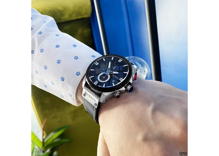 Мужские часы Curren 8346 Silver-Black