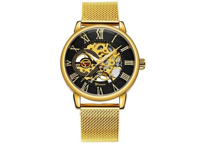 Мужские часы Forsining 1040 Gold-Black