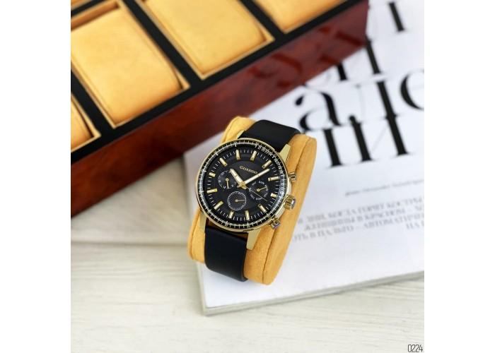 Мужские часы Guardo 012287-4 Black-Gold