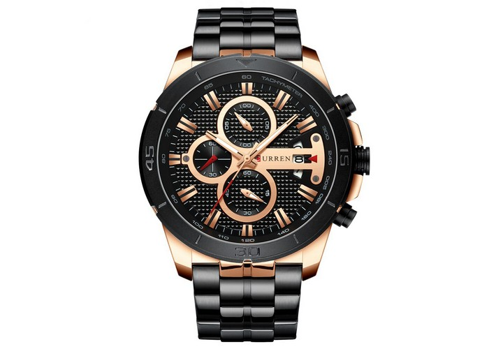 Мужские часы Curren 8337 Black-Cuprum