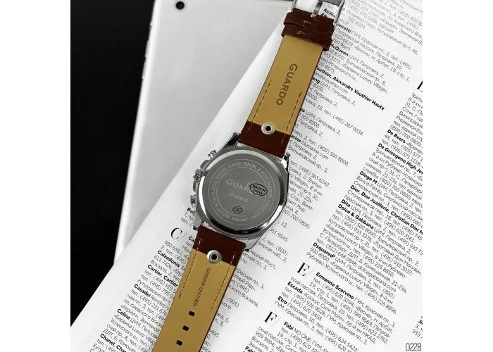 Мужские часы Guardo 10281-3 Brown-Silver-Gold