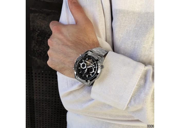 Мужские часы Forsining FSG340 Silver-Black