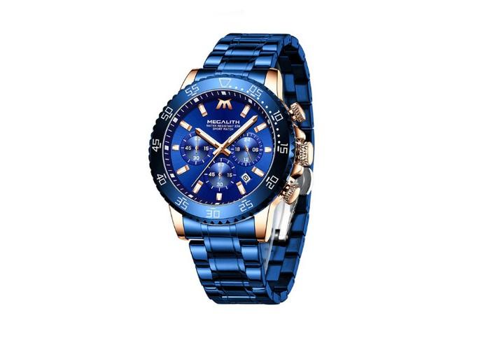 Мужские часы Chronte Matt Blue-Cuprum