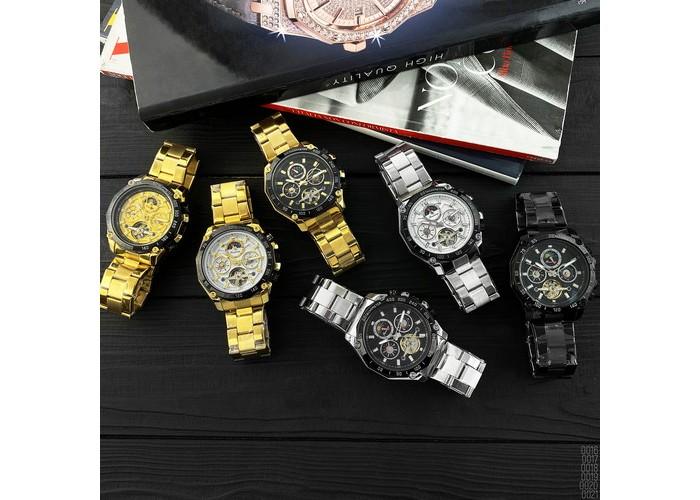 Мужские часы Forsining 6913 Gold-Black