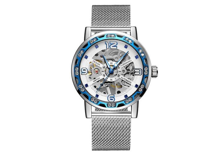 Женские часы Forsining GMT1201 Silver-Blue