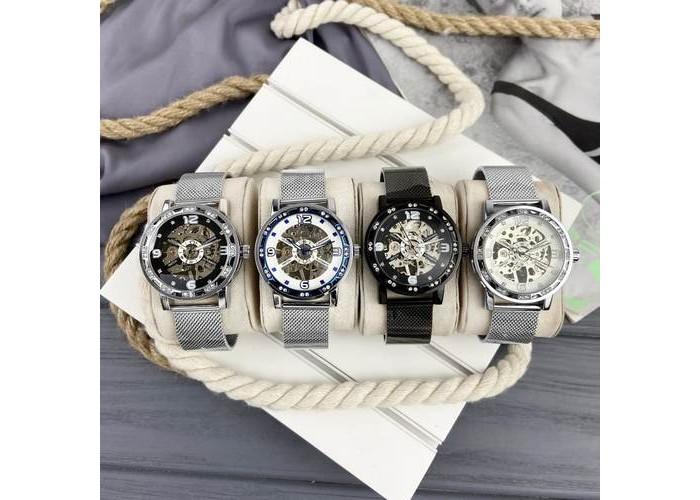 Женские часы Forsining GMT1201 Black-Silver