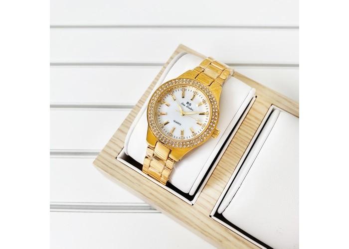 Женские часы Bee Sister 1258 Gold-White Diamonds