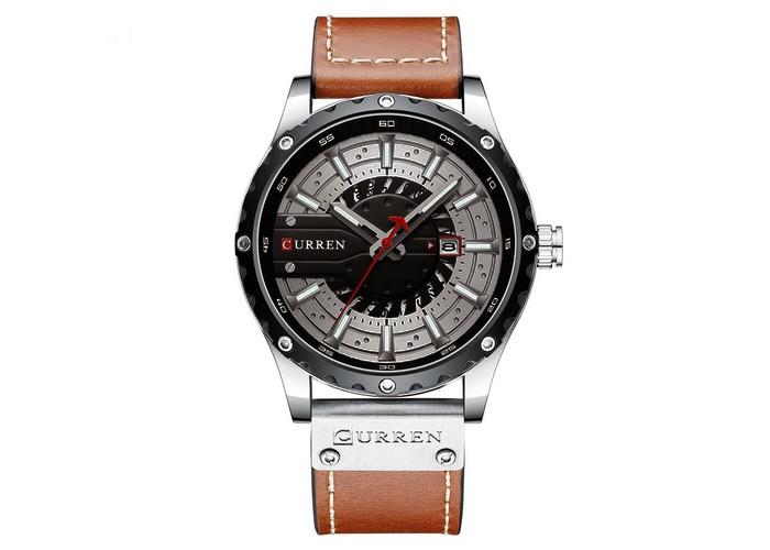 Мужские часы Curren 8374 Brown-Silver-Black