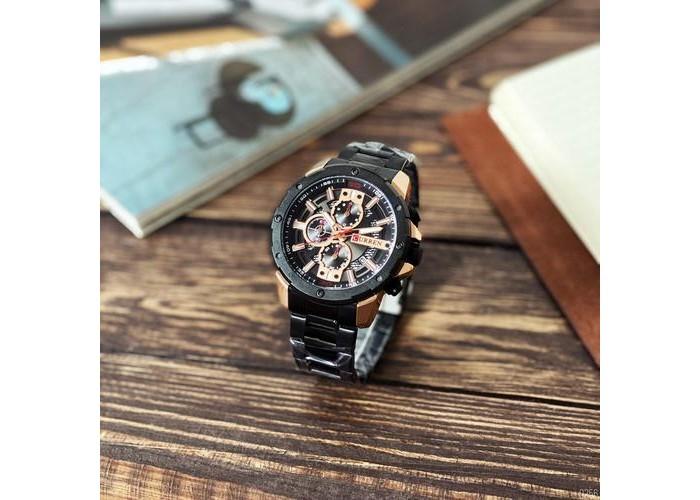 Мужские часы Curren 8336 Black-Cuprum
