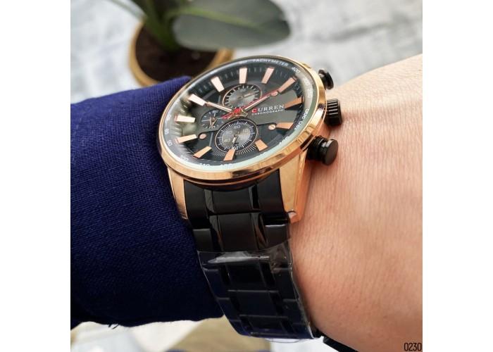 Мужские часы Curren 8351 Black-Cuprum