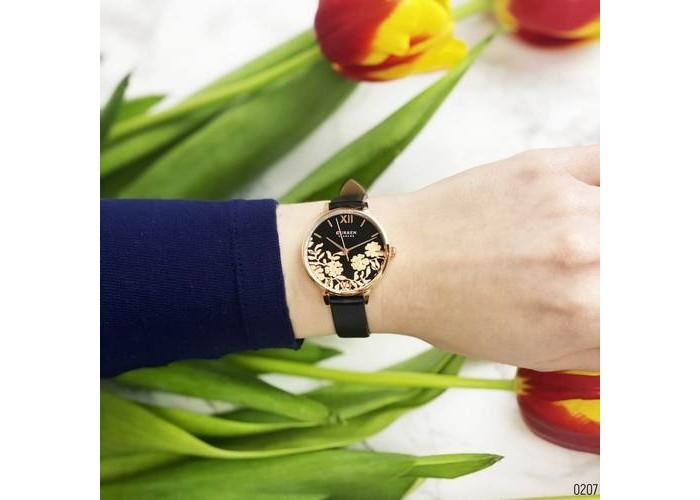 Женские часы Curren 9065PU Black-Cuprum