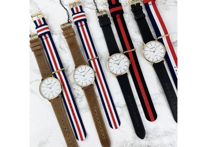 Мужские часы Guardo 11014-4 Brown-Gold-White