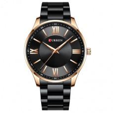 Мужские часы Curren 8383 Black-Gold