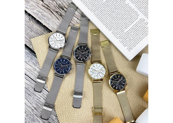 Мужские часы Guardo 012077-4 Gold-Black