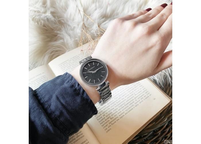 Женские часы Guardo 012502-1 Silver-Black