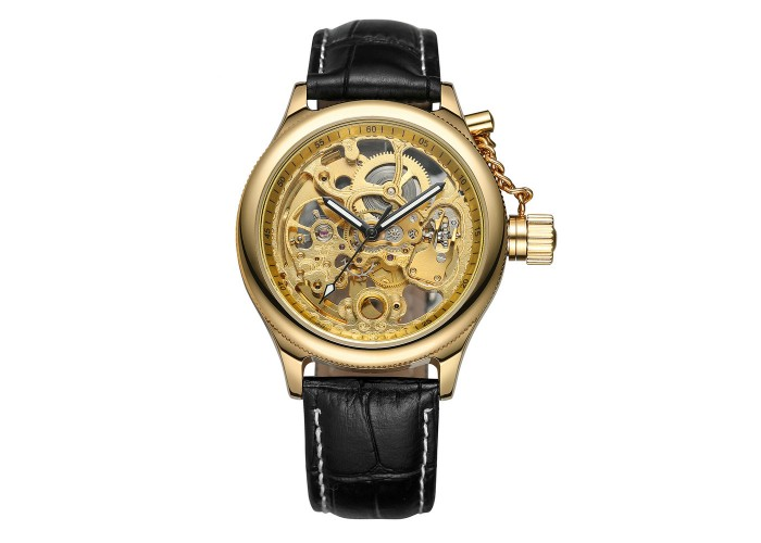 Мужские часы Forsining 206-1 Black-Gold