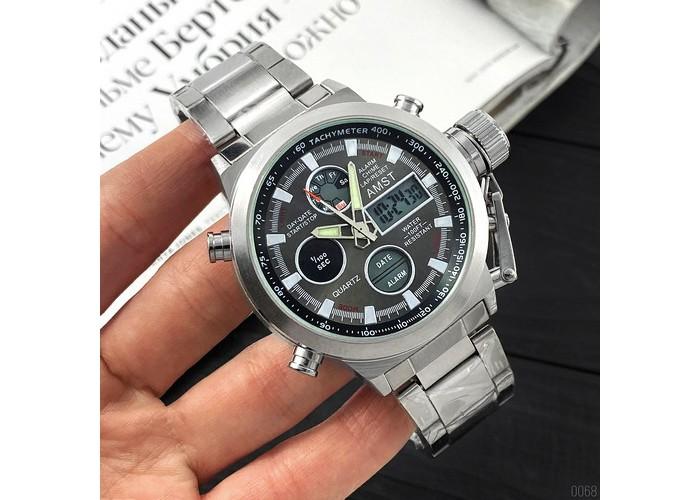 Мужские часы AMST 3003M Silver-Black Metall