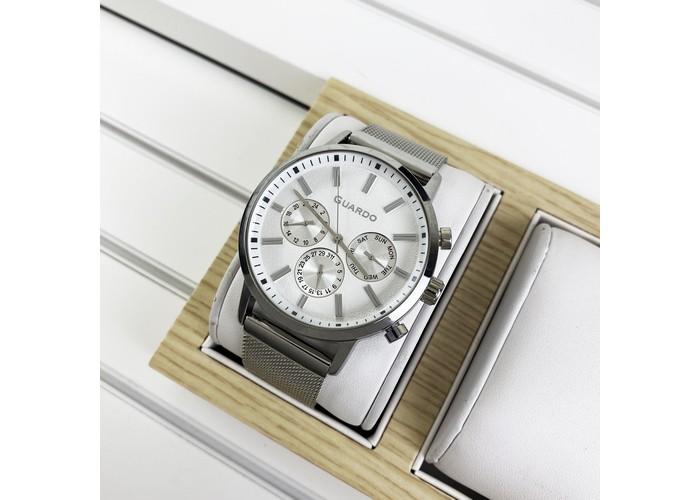 Мужские часы Guardo 012077-1 Silver-White