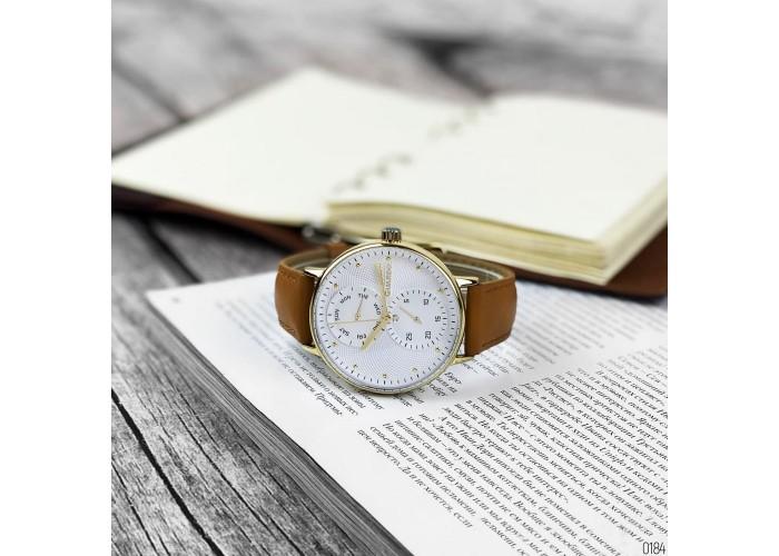 Мужские часы Guardo 012522-3 Brown-Gold-White